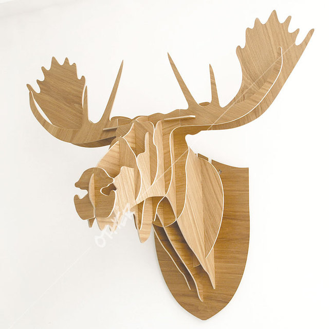 3d Woodcraft Patterns Puzzle Diy Wooden Animal Moose Home Furnishing
