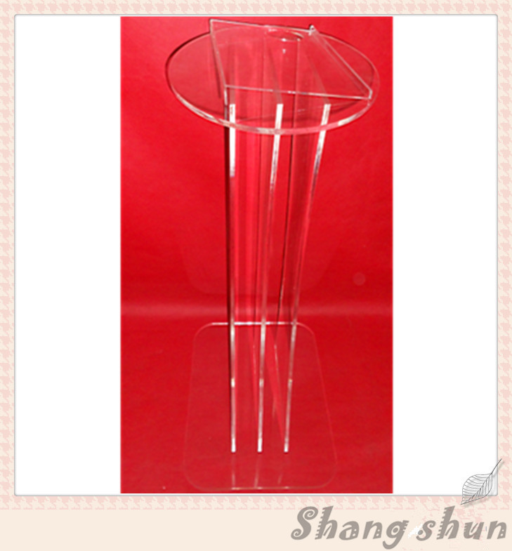 Clear Plastic Church Podium Acrylic Rostrum Acrylic Multimedia Lectern Acrylic Pulpit Lectern Plexiglass