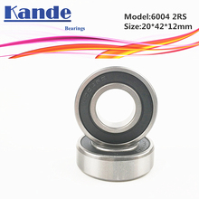 6004RS Bearing 2pcs ABEC-5 High quality 6004 2RS Single Row Deep Groove ball bearing 6004-2RS 20x42x12 mm