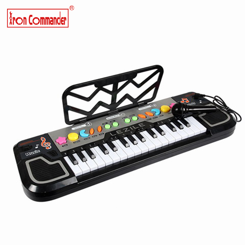 цена на Iron Commander Baby Piano Music Toy Kids Musical Educational Piano with microphone Developmental Toys for Children kid Gift