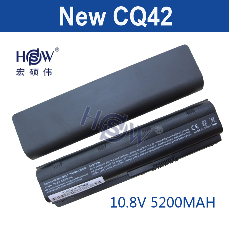 HSW Laptop Battery for HP Pavilion G4 G7 CQ42 CQ32 G42 CQ43 G32 DV6 DM4 430 hp dv6 battery 593553-001 MU06 for hp g6 battery 5200mah dm4 laptop batteries for hp pavilion cq42 cq32 g42 cq43 g32 dv6 g4 g6 g7 batteries 593553 001 mu06
