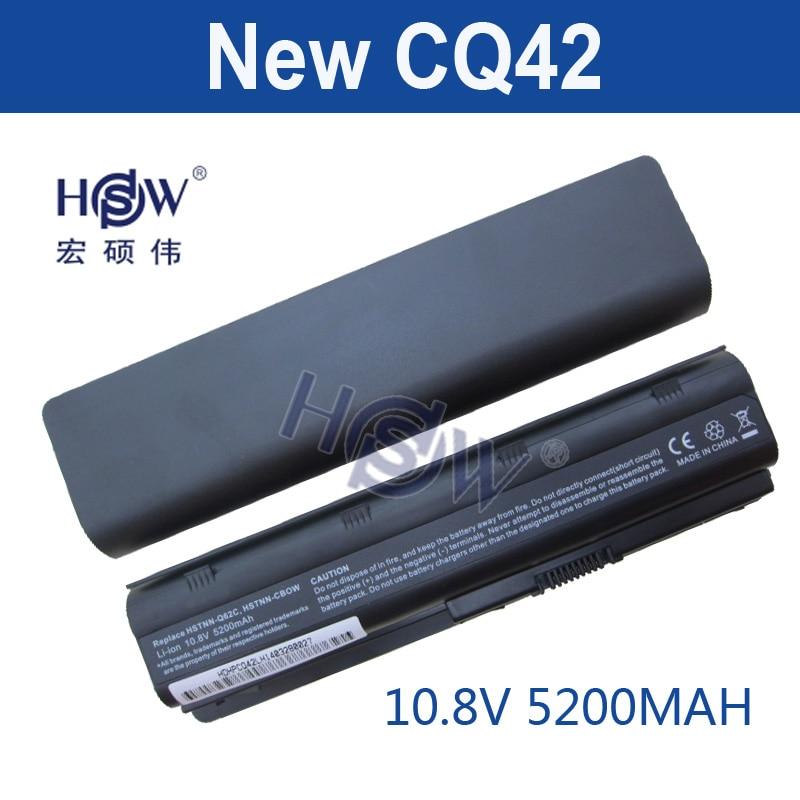HSW 5200MAH 6CELLS NEW Laptop Batteries for HP Pavilion G4 G6 G7 CQ42 CQ32 G42 CQ43 G32 DV6 DM4 430 Batteries 593553-001 MU06