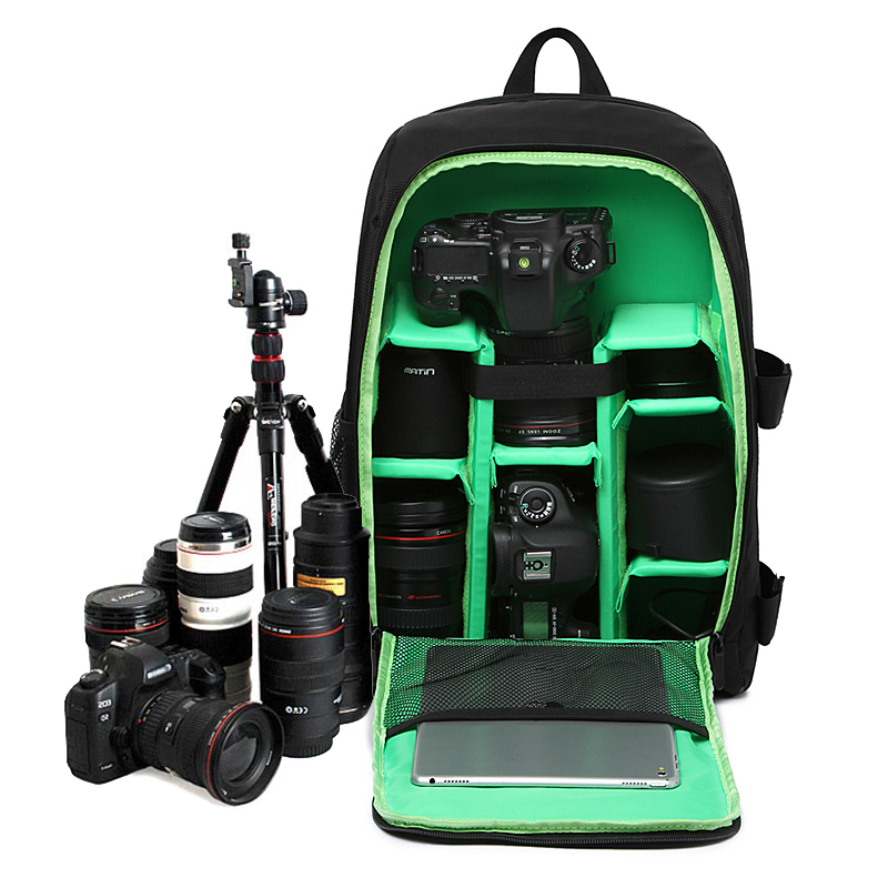 Digital Waterproof Camera Backpack Bag Padded Shoulders Photo Camera Case For Canon Nikon SONY DSLR Mochilas Fotografia Bag high quality army green rucksack canvas backpack camera bag for nikon canon sony dslr camera