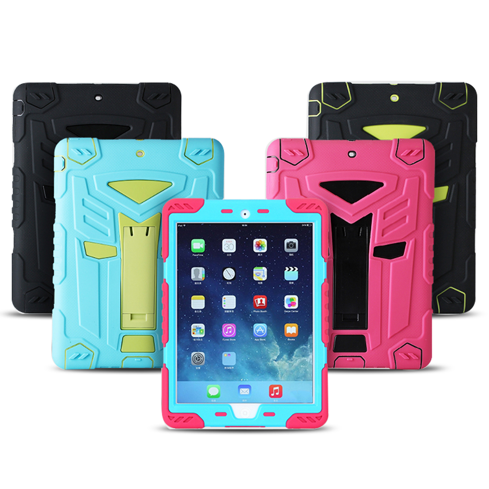 For ipad Air Case Air 1st Military Transformer Hybrid Shockproof Cover For Apple New ipad 5 PC Silicone Smart Stand Holder Case hot case for ipad 5 cover shockproof kids protector case for apple ipad air case air1 cover pc silicone hybrid robot stylus pen