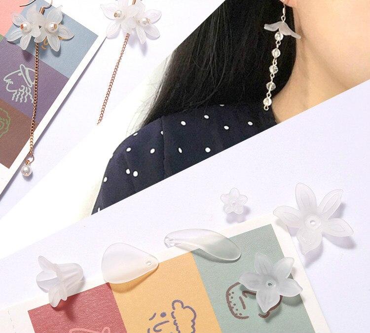 Fairy Fresh Transparent Resin Flower Petals DIY Handmade Beads Earrings Accessories Pendant Necklace 50pcs