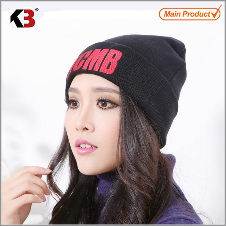Black Unisex Slouch Warm Knit Plian Knitted Soft Feel Slouch Beanie Ski Hat (2)