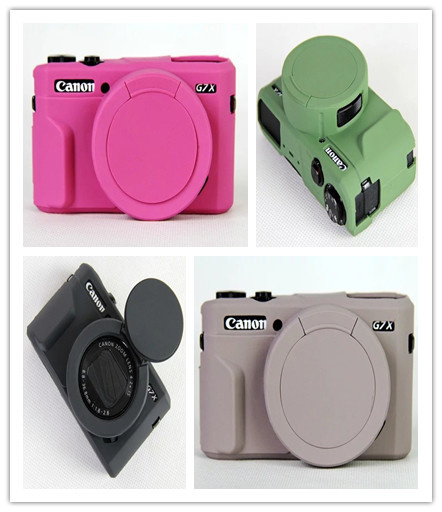Digital Camera Nice Soft Silicone Rubber Camera Protective Body Cover Case Skin Lens bag for Canon
