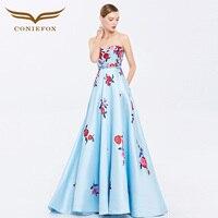 Coniefox 38081 без бретелек Цветок Vestidos De Festa Vestido Longo; Para Casamento Zuhair Murad пикантные Длинные вечерние платья платье