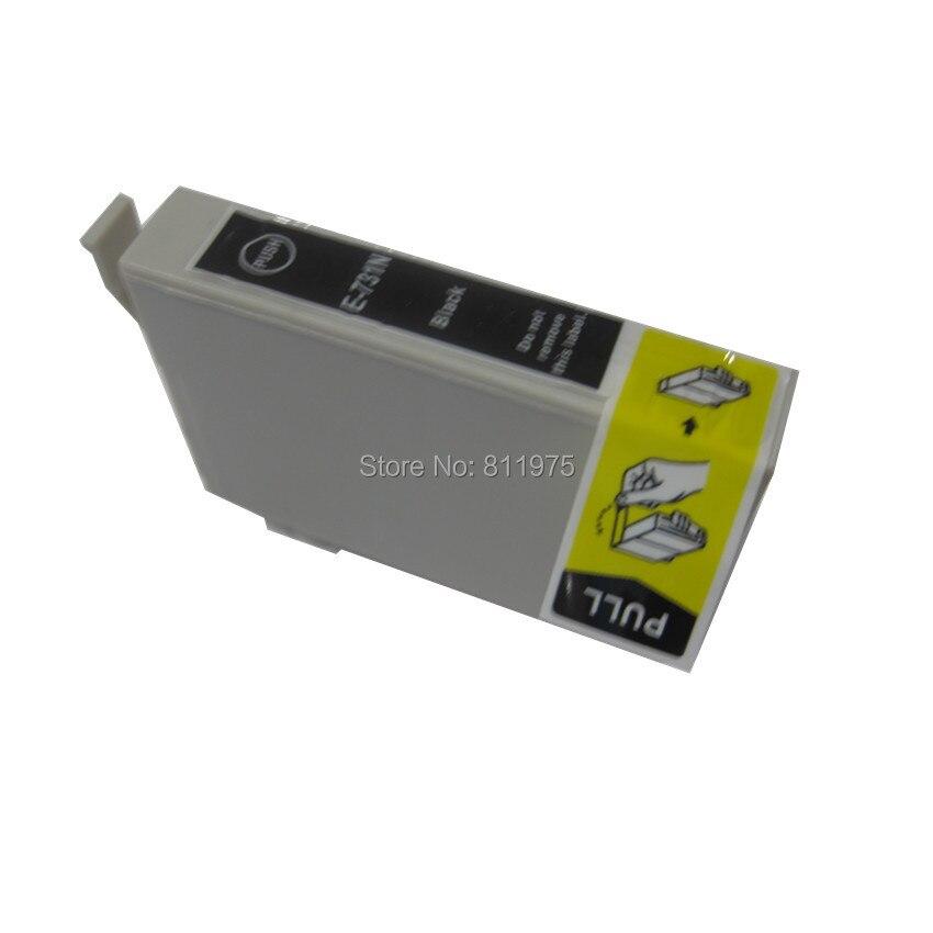 T0731 73N Black compatible ink cartridge For EPSON Stylus T13 TX102 TX103 TX121 C79 C90/C92 C110 CX3900 CX4900 CX5500 CX5501