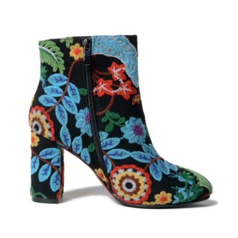 Femmes Chaussures Mode Bottes Taille Courtes D'hiver Talons Cheville Broderie 43 Noir 33 Nouvelle Vulusvalas Hauts Moitié À Femme w7OxpIpqX