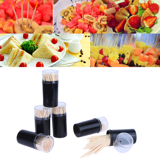 600 Pcs Bags bamboo Oral Wooden Toothpick Care Tooth Picks Hygiene Teeth Cleaning For Home Outdoor Bar Restaurant