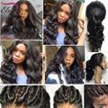 8A Grade Body Wave Lace Front Wigs Unprocess Brazilian Virgin Hair Wigs Glueless Full Lace Wigs For Black Women Lacefront Wigs