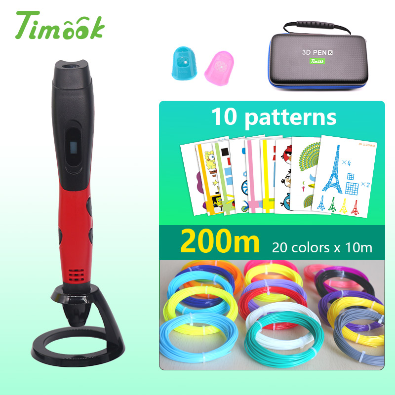 New version 3d pen 3d printer pen with1.75mm abs/pla filament  USB power supply DC 5V 2A with beautiful stron bag Easy to carry(China)