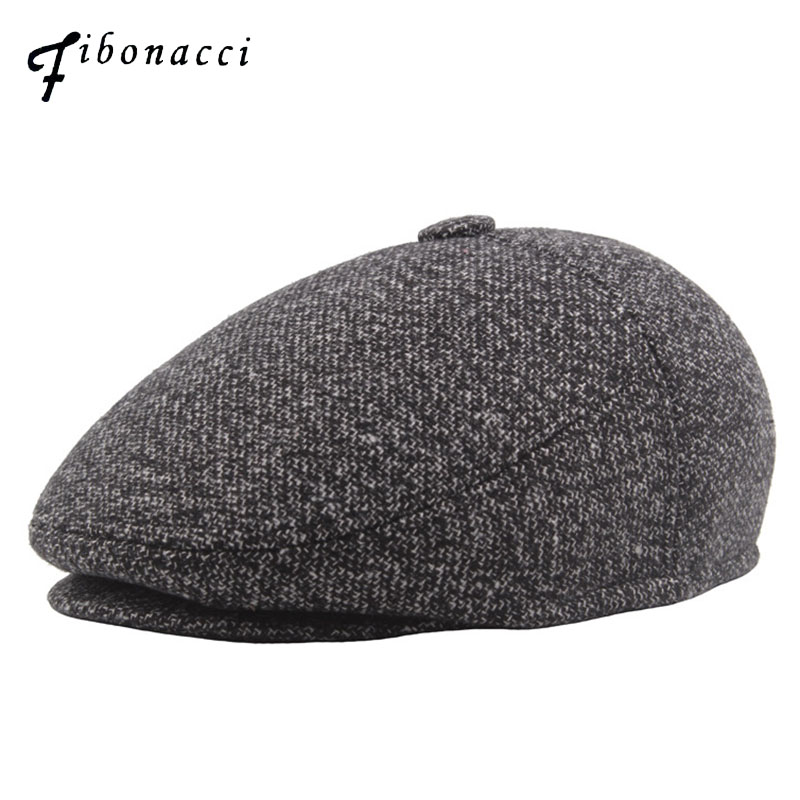 2cef75d442f Detail Feedback Questions about Fibonacci Autumn Winter Newsboy Caps Men s  Middle Aged Old Age Beret Cabbie Ivy Flat Nylon Dad Hats for Men Caps on ...