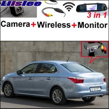 Liislee 3 in1 Special Rear View Camera + Wireless Receiver + Mirror Monitor Back Up Parking System For Citroen Elysee 2011~2017(China)