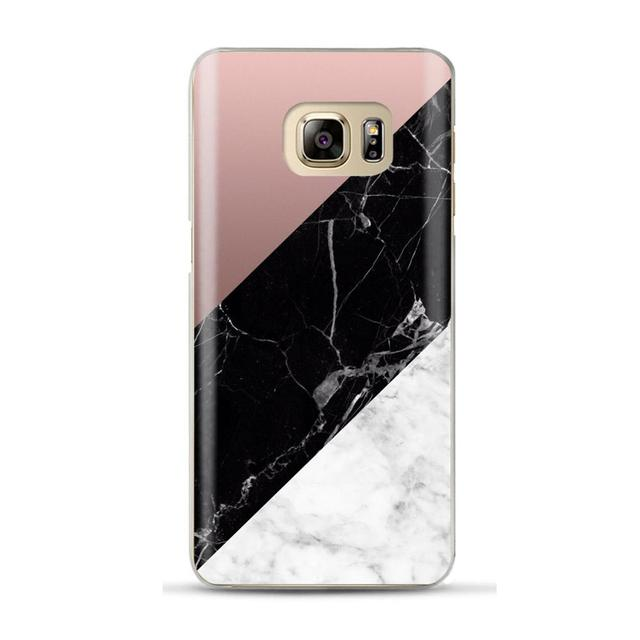 Geometric Marble Case For Coque Samsung Galaxy S6 S7 Edge S8 S9 Plus A5 2017 A520 A7 J4 J6 A6 A8 Plus 2018 Cover Soft TPU Cases