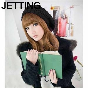 Multi Color Fashion Winter Twisted Girl Beret Knitted Hat Keep Warm Cap Fashion For Women