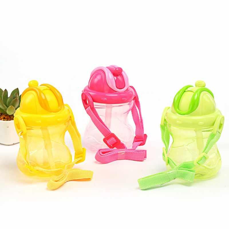 Горячая 260 мл Питание новорожденного соломы портативная ручка PP детские бутылочки для малышей Сиппи Детские тренировочные питьевые чашки