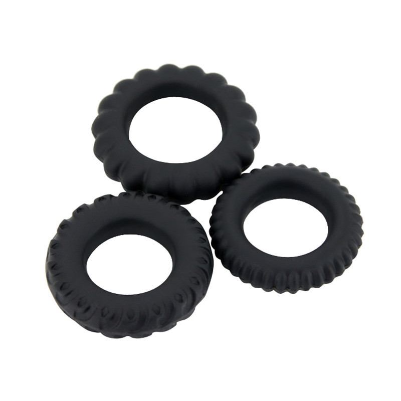 New USB Rechargeable Rotation Vibrating Cock Ring Sex Toys For Men 3 Mode Clit Stimulate Penis Rings for Couples Erotic Toys 11
