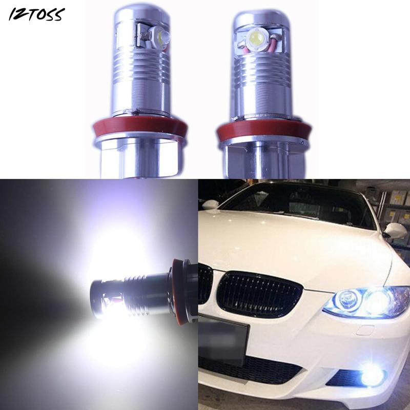 IZTOSS 2X Error LED Angel Eye Halo Light for BMW E81 E82 E90 M3 E64 X5 E70 E91 E92 E93 E63 H8 super bright 120w h8 6000k error free cree chips led light bulb angel eye bulbs for bmw 1 3 z series e82 e88 e89 e90 e92 e93 m3