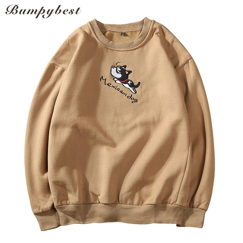 Bumpybeast New Design dog Embroidery Men Color Fashion Sweatshirts Brand Orignal Design Casual Pullover Autumn size 3XL Y25