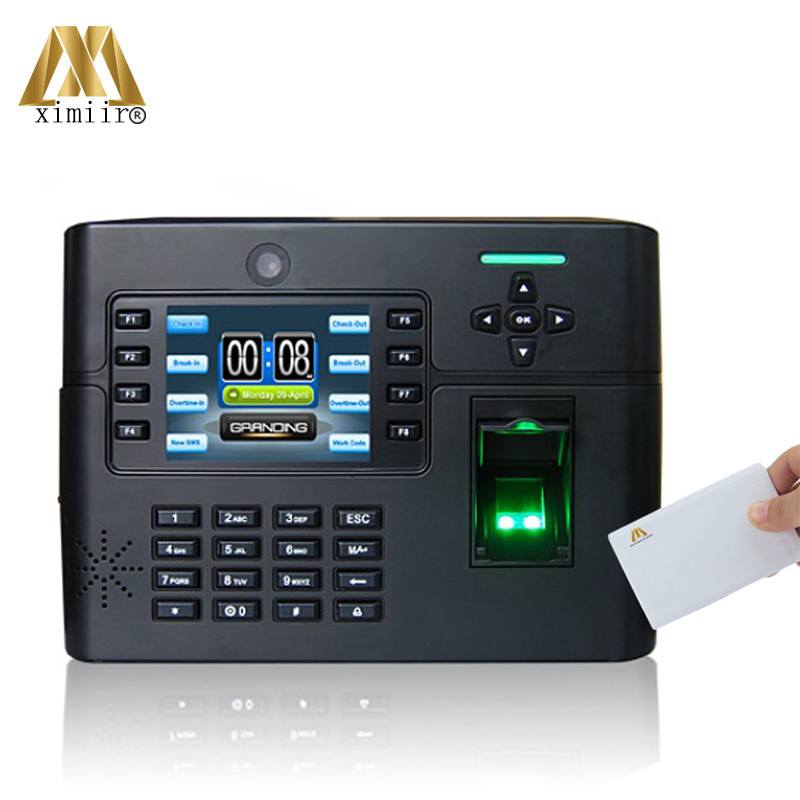 Free Shipping Smart Door Access Control ZK Software Iclock990 With MF IC Card Time Recorder Fingerprint Time Attendance