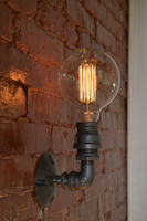 Loft do vintage nostálgico industrial lustre tubulação de água edison arandela lâmpada resturant hotel escada casa moderna luminária parede