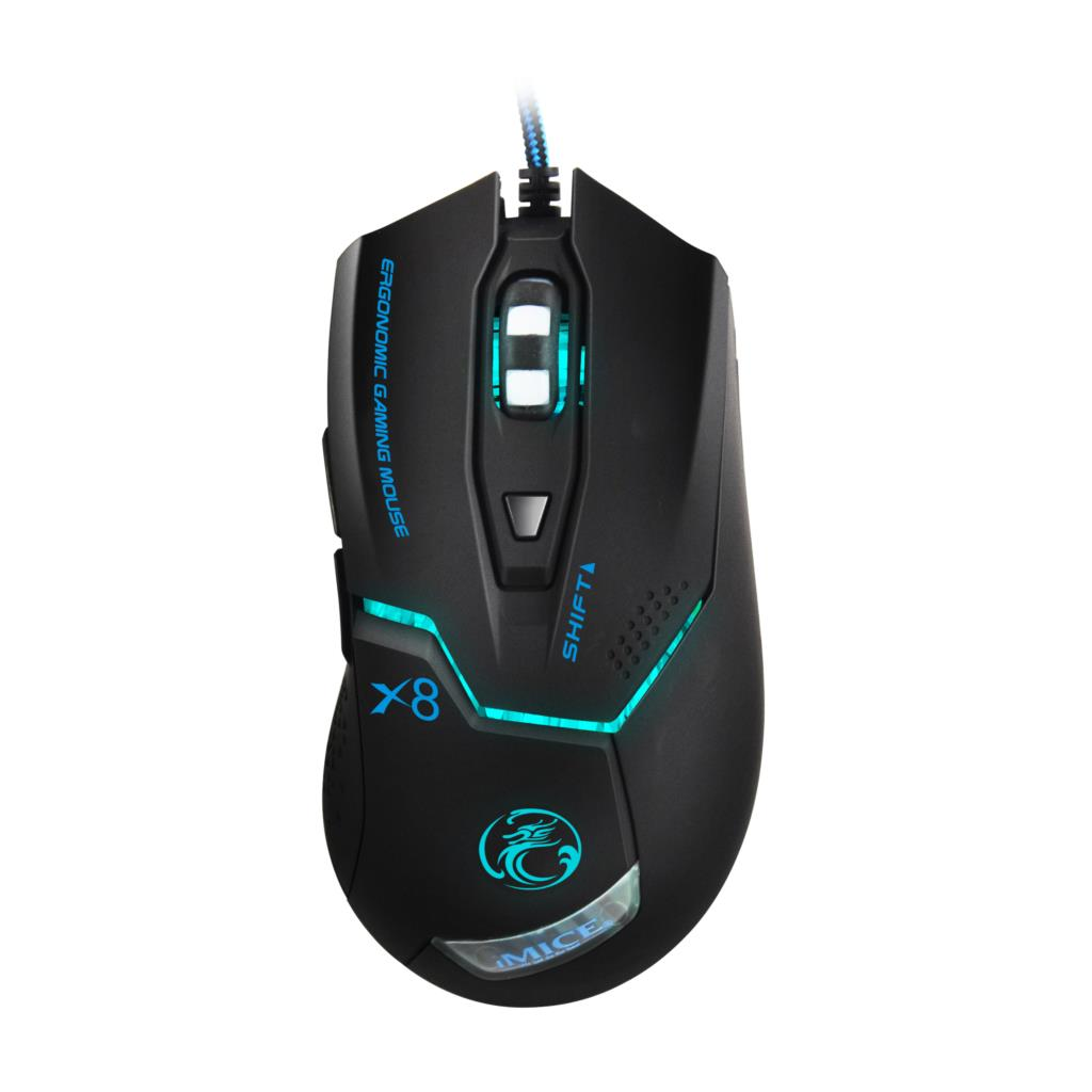 Wired Gaming Mouse USB Optical Gamer Mouse 6 Buttons Computer Mouse Gamer Mice High Quality Professional Gaming Mice 3200DPI X8 fc 5150 usb wired 800 1600 2400 3200dpi optical gaming mouse black