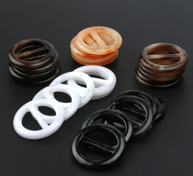 Clothing Knot Buckle Round Button Clothing Shirt T-shirt Buckle Shirt Belt Scarf Accessories