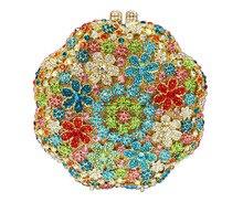 Pochette Soiree Wedding Bridal Accessories Handbags Stylish Golden Crystal Evening Bag Stylish Graceful Lady Luxury bags 88384