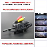 Intelligent Parking Tracks Car Rear Camera For Hyundai Sonata NFC 2009~2012 Backup Reverse / NTSC RCA AUX HD SONY 580 TV Lines