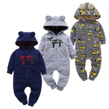 2017 soft Baby Christmas Costumes 6-24M Baby Boy Clothes lovely style Baby Rompers  clothing for kids