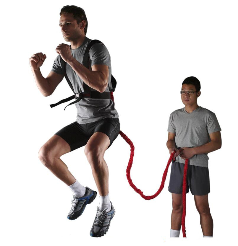 17ft Lightning Cord Dual Resistance Bungee Band Trainer Power Speed - Fitness och bodybuilding - Foto 5
