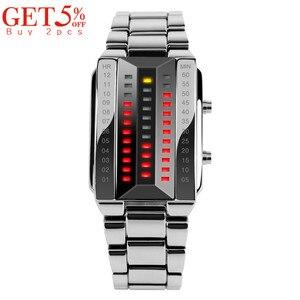 Image 2 - SKMEI Men Women Lovers Sport Digital Watch Fashion Couple Clock Watches Top Brand Luxury Alloy Strap Man Woman reloj hombre 1013