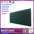 Из светодиодов дисплей модуль p10 DIP один зеленый 320 * 160 мм из светодиодов панели 32 * 16 пикселей открытый из светодиодов дисплей сообщений из светодиодов видео знак