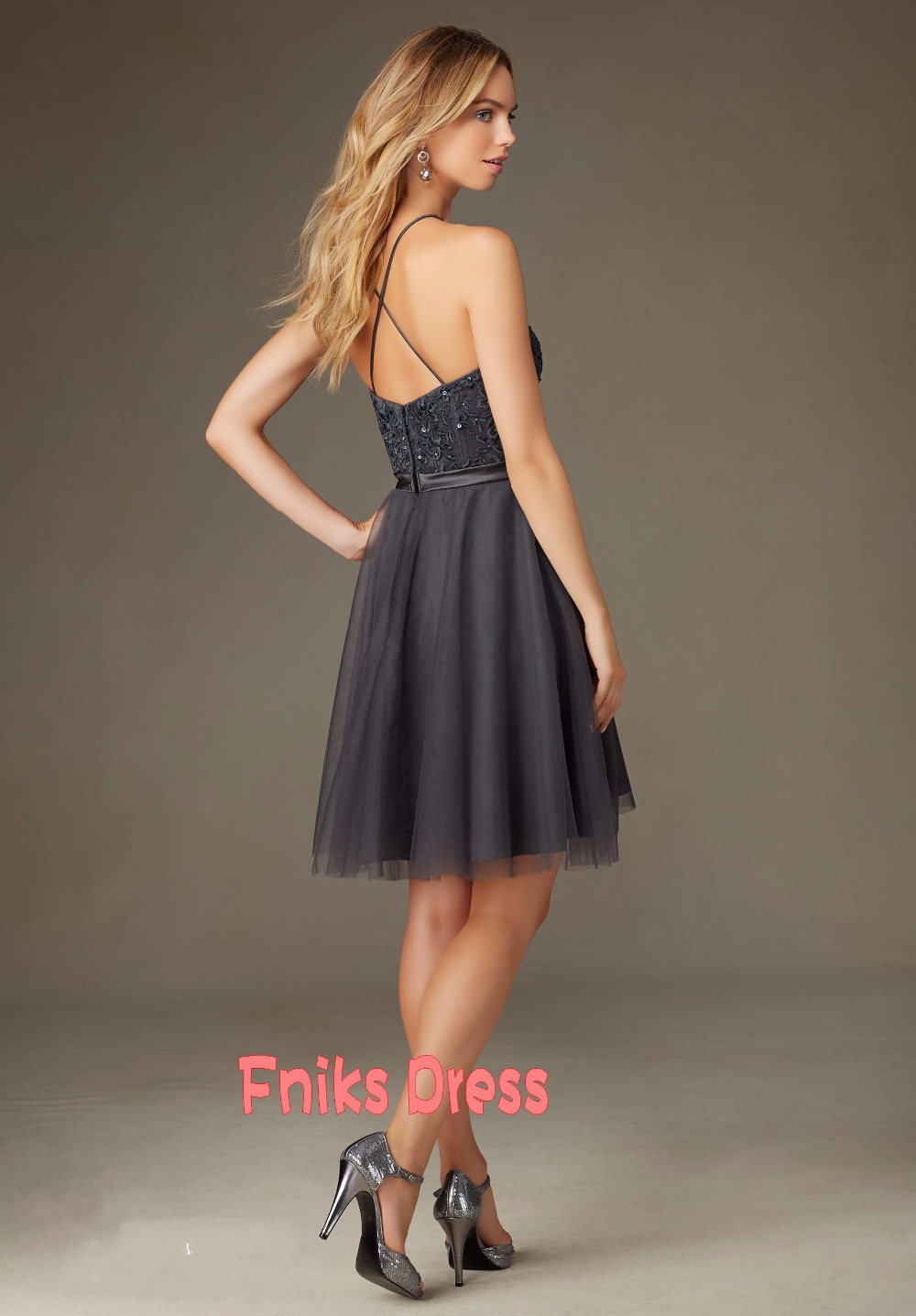 2016 cheap short bridesmaid dresses under 100 sexy halter 2016 cheap short bridesmaid dresses under 100 sexy halter cirsscorss back elegant dark grey color tulle beach vestido madrinha in bridesmaid dresses from ombrellifo Choice Image