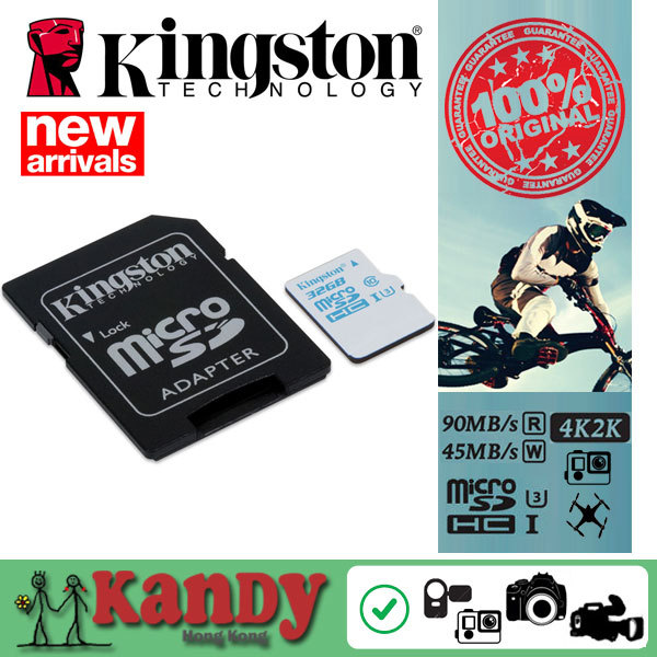 Kingston micro sd card for GoPro drones 16gb 32gb 64gb memory card class 3 UHS-I U3 microsd 4K video action cam camera wholesale