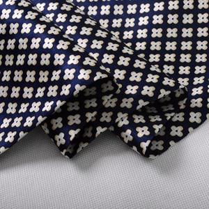 Image 5 - [BYSIFA] Brand Men Silk Scarf Muffler Winter Fashion Accessory 100% Pure Silk Male Plaid Long Scarves Cravat Navy Blue 160*26cm