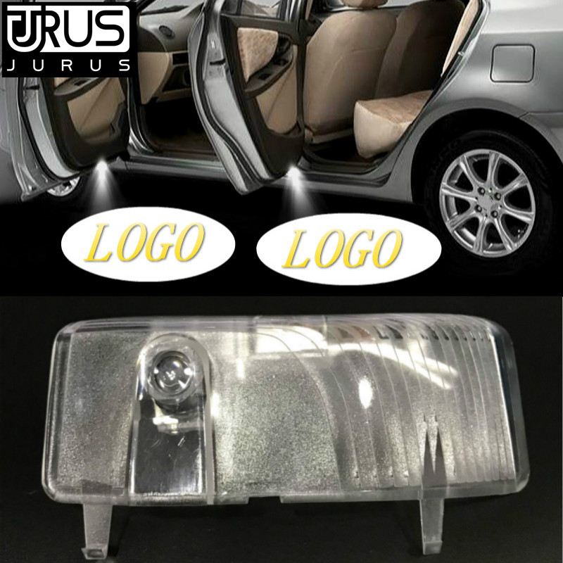 JURUS 2Pcs Led Door Courtesy Light With Car Logo For Mazda 6 2004-2013 Laser Light Projector Lamp Ghost Shadow Car Accessories