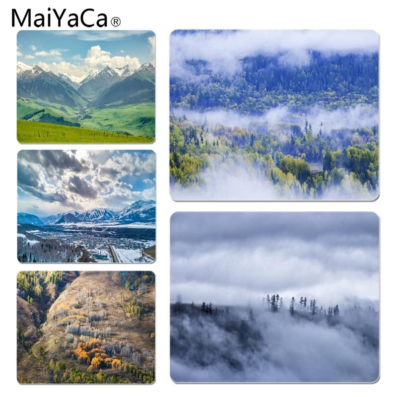MaiYaCa Xinjiang Xunmu Cloud Sea Autumn Unique Desktop Pad Game Mousepad Size for 18x22x0.2cm Gaming Mousepads