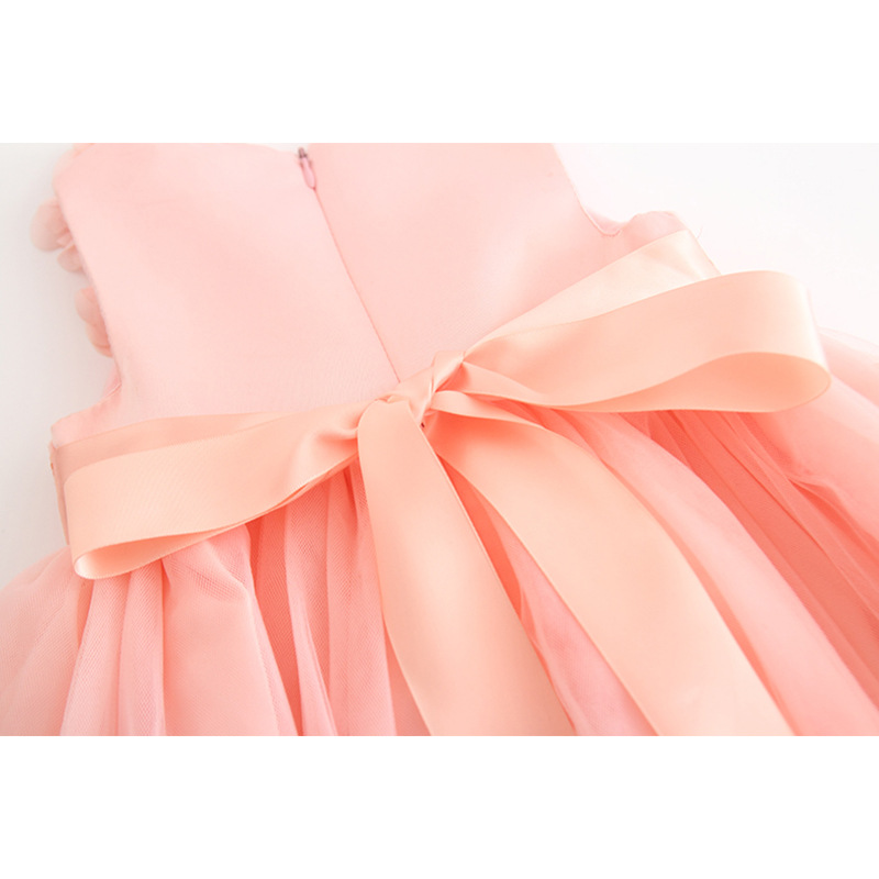 Baby Girl Clothes Spring And Summer Baby Girls Dress Bow Cute Three Dimensional Flower Petal Costume Cotton Kid Clothes jooyoo in Dresses from Mother Kids