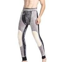 Below Zero 30 Degrees Super Warm Men's Merino Wool Leggings Winter Thermal Underwear Skinny Fleece Tights For Men Johns Pants