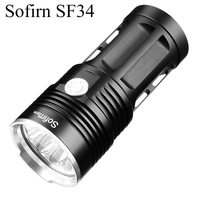Sofirn SF34 Powerful LED Flashlight 2000LM Cree LED Torch Light 18650 Tactical Flashlight 5 Modes Linterna Portable Lamp Light