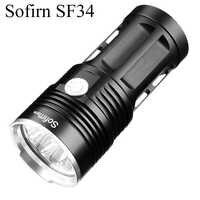 Sofirn SF34 potente Linterna LED 2000LM Cree LED antorcha luz 18650 Linterna táctica 5 modos Linterna portátil