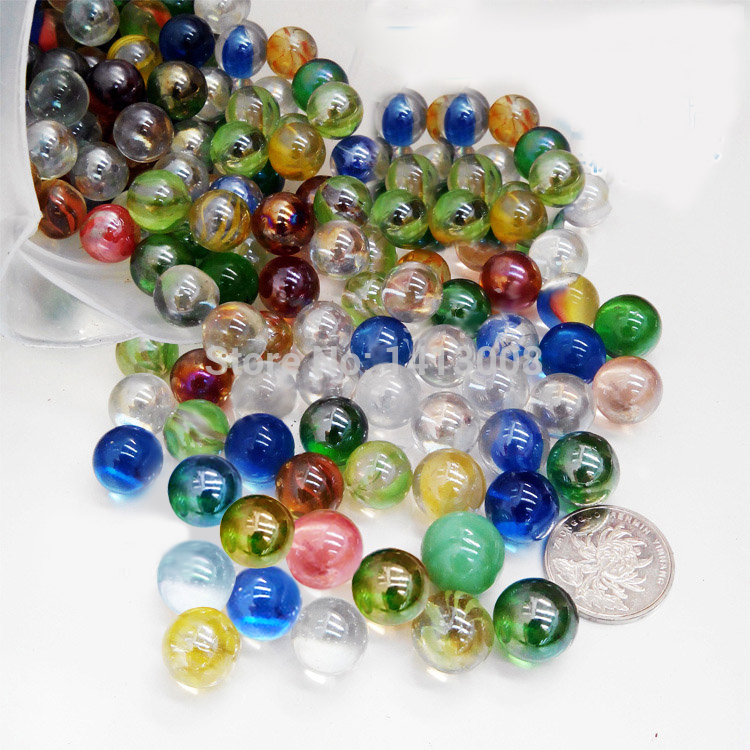 40pcs Glass Marbles Ball 14mm Classic Home Fish Tank Decoration