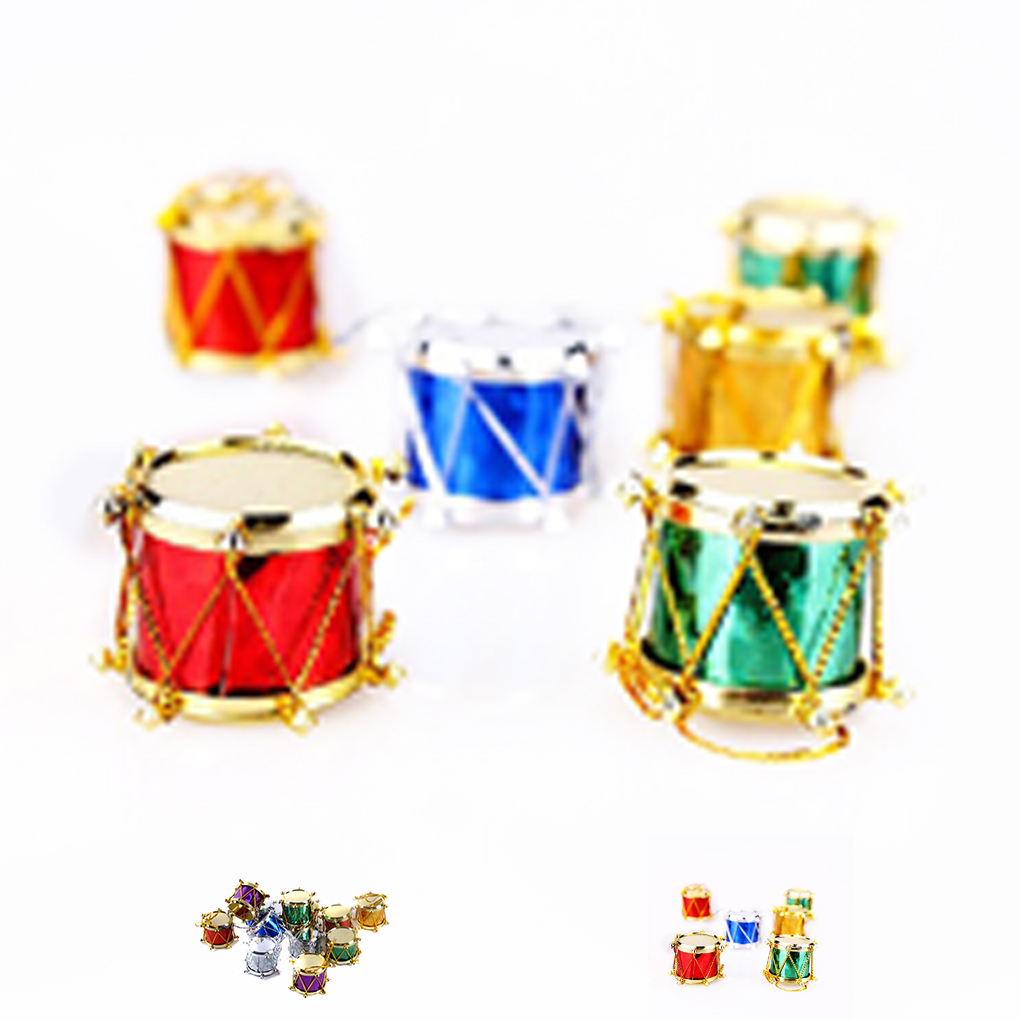 Christmas Drum Decor.Us 1 46 30 Off 6 12pcs Hand Crafted Christmas Tree Ornament Snare Drum Tree Hanging Ornaments Xmas Decor For Your Home In Party Diy Decorations From