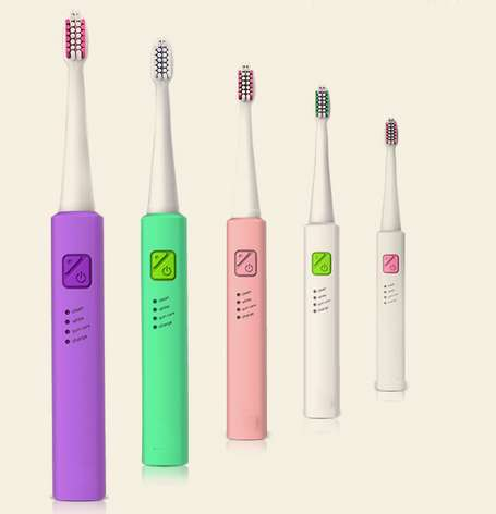 Electric Toothbrush sonic Teeth Brush waterproof 8 Replacement Heads kids adult USB charging 2pcs philips sonicare replacement e series electric toothbrush head with cap