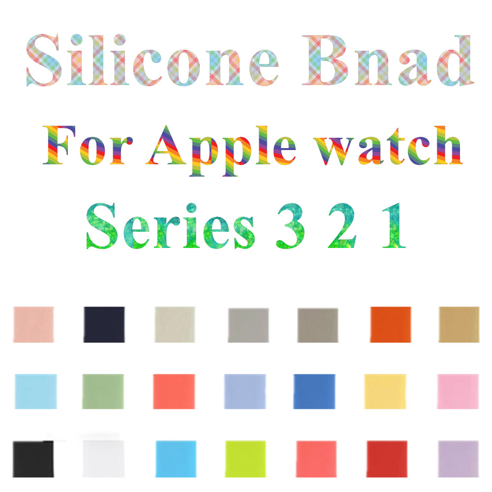 Sport Soft Silicone iwo 5 6 7 strap Series 3 2 1 for apple watch 42mm 38mm bracelet wrist band watch watchband For iwatch 3/2/1 luxury ladies watch strap for apple watch series 1 2 3 wrist band hand made by crystal bracelet for apple watch series iwatch
