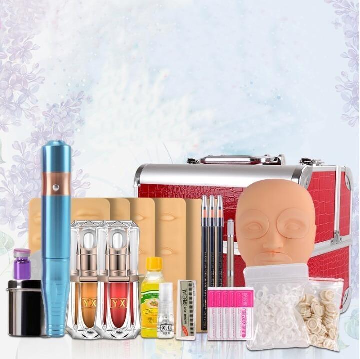 Microblading Set semi Permanent Make up Tattoo Body Art Accessories Beginner Pigment/Manual Machine/Needles For Eyebrow/Lip