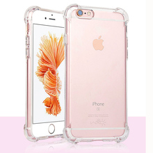ФОТО anti knock crystal silicone case for apple iphone 5 5s se 6 6s 6 6s 7 8 10 x plus transparent air cushion back coque cover